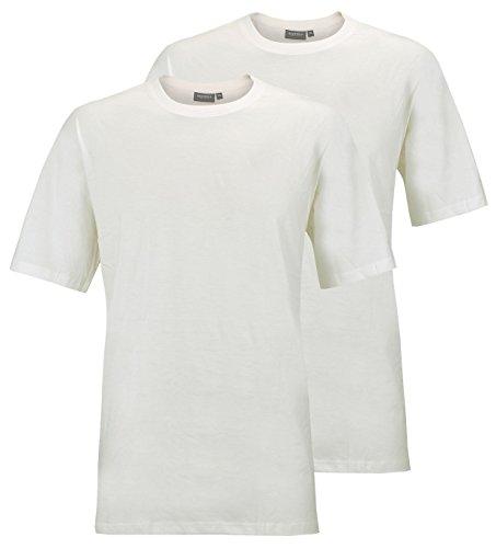 Redfield T-Shirt Doppelpack Rundhals weiß 8XL