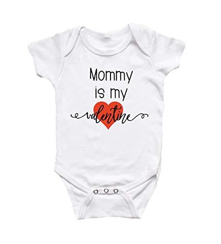 Valentines Day Mama is My Valentine Valentine/'s Day Outfit Mommy is My Valentine Onesie Valentines Shirt Mommy/'s Valentine Bodysuits
