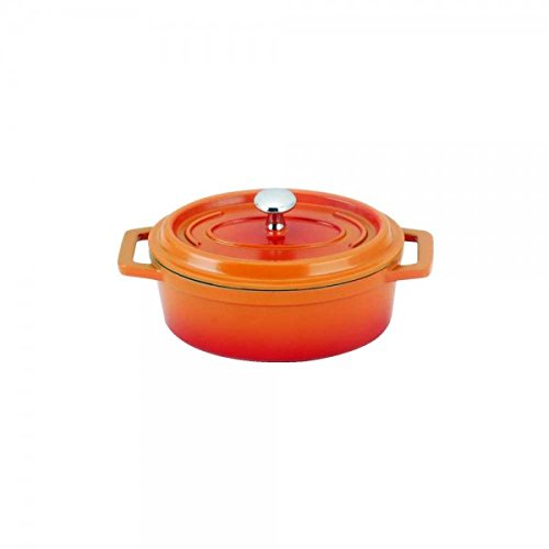 Wonderchef Windsor Die-Cast Aluminum Roaster with Lid, 12cm, 1-Piece, Orange/Red