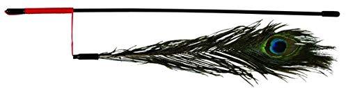 Trixie 4509 Spielangel mit Pfauenfeder, 47 cm