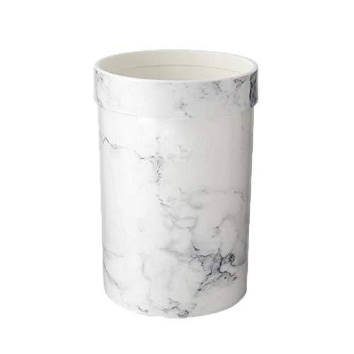 TARTIERY Home Basics Faux Marmor Bad Mülleimer Mülleimer Europäischen Stil Kunststoff Deskside Papierkorb Für Wohnzimmer Schlafzimmer Büro