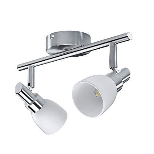 LEDVANCE Faretto LED, Faretto di Otima Qualità con 2 Faretti, Realizzato in Alluminio, Adatto per Pareti e Soffitti Interni, Lampade G9 2W Sostituibili Già Incluse,Warm White (2700K),SPOT LED G9 2X2W
