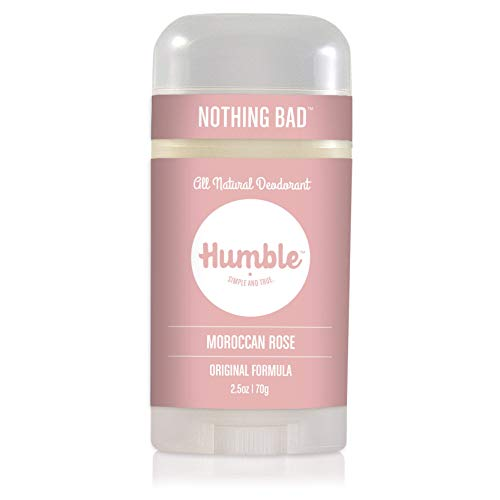 Humble Brands All Natural Aluminum Free Deodorant Stick for Women and Men, Lasts All Day, Safe, and Certified Cruelty Free, Moraccan Rose, Pack of 1