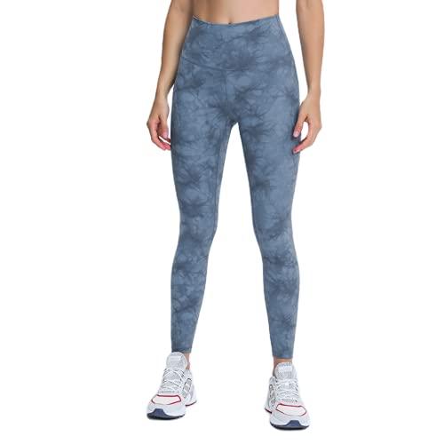 QTJY Camuflaje Damas Medias de Cintura Alta Cadera Pantalones de Yoga Estiramiento Pantalones de Fitness de Secado rápido Pantalones Deportivos para Correr al Aire Libre BL