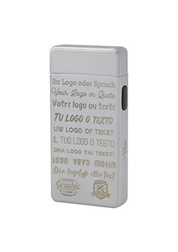 TESLA Lighter T13 Lichtbogen Feuerzeug, mit Wunsch-Gravur, personalisiert als Geschenk zu Weihnachten, Geburtstag etc. Elektronisches Feuerzeug, wiederaufladbar per USB inkl. Geschenkverpackung