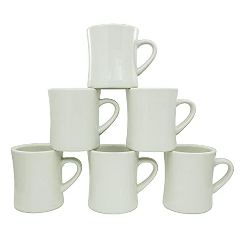 Coffee Mugs, Coffee mug set of 6 - Stoneware Coffee Cups for Glamping, Camping, Van Life, RVs, Cabins & More