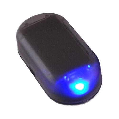 Schimer USB + SOLAR Auto Alarmanlage Dummy Imitation Diebstahlsicherung Attrappe, Solar Power Simulierte Auto Warnung LED Licht Anti-Diebstahl Warnleuchten Flashing Sicherheit Lampe