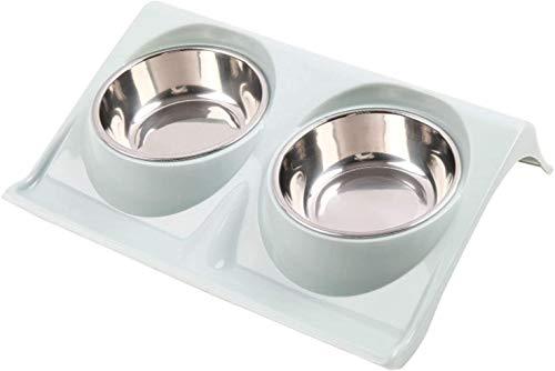 Haojie Mesa de Comedor para Mascotas Cuenca de Agua Potable para Gatos y Perros Grano Muñeca Doble General Suministros para Mascotas Alimentación de tazón de arroz,B