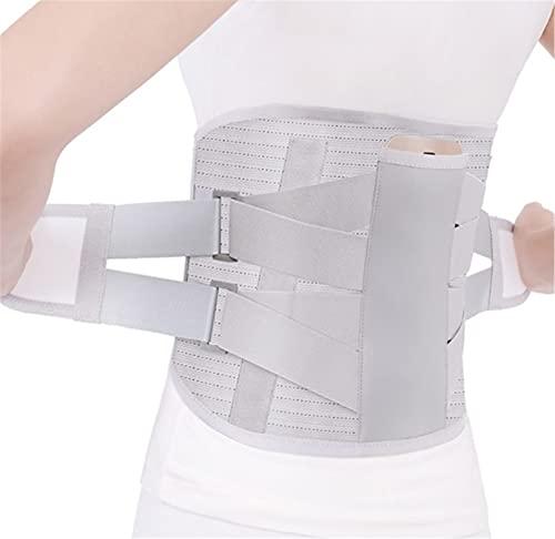 Lumbarmate Cinturón De Soporte Lumbar Ortopédico Con Placas De Acero Y Terapia De Calor, Tirantes Para La Espalda Para Aliviar El Dolor Lumbar Para Hombres Y Mujeres (Gris, L)