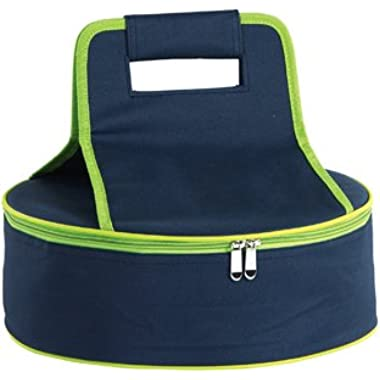 Picnic Plus Round Thermal Insulated Pie, Cake, Dessert Pot Luck Carrier Holds Up To A 12 D Dish