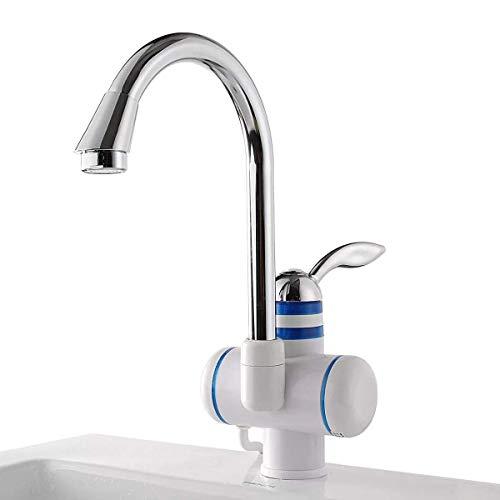 Fácil de Instalar 220V 3000W Diseño amigable Tranquilo y Refinado Calentador de Agua instantáneo Grifo Baño Cocina Grifo de calefacción