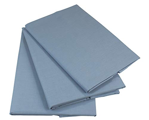 KMP know how in modern printing (2er Set) Bettlaken ohne Gummizug Betttuch Haustuch 100% Baumwolle viele Uni Farben (Hellgrau, 160 x 200 cm)