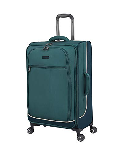 it luggage Encircle Softside Expandable Spinner, Teal Blue, Checked-Medium 28-Inch
