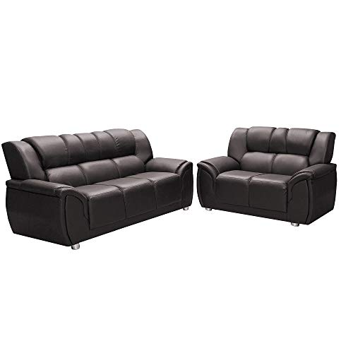 Conjunto de sofá Hellen 3 e 2 lugares Córdoba em P.U. - Marrom