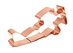 """Barnstorming Biplane Airplane Cookie Cutter Measures 4 3/4"""" X 2 1/8"""" The Biplane Shape Cookie Cutter is made from solid heavyweight copper, jointed using lead free solder. Made in the USA the Copper Biplane, Airplane cookie cutter is built for years ..."""