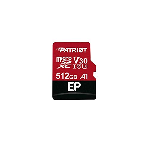 Patriot 512GB A1 V30 Micro SD Card for Android Phones and Tablets, 4K Video Recording