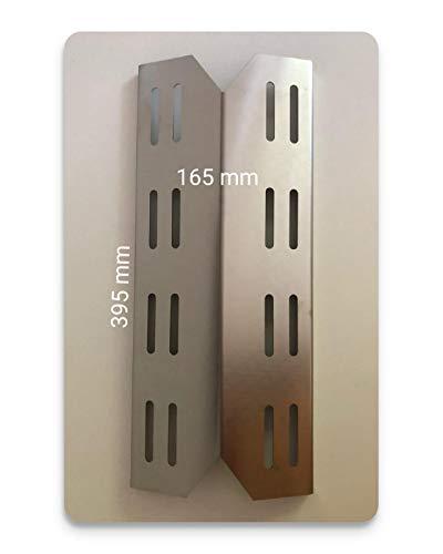 RuSchi Universal 1,5mm Starke Edelstahl Brennerabdeckung Flammenverteiler passend für Landmann Triton 2 und 3