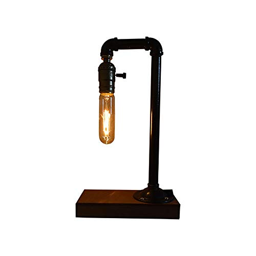 DALIBAI Tabla lámpara de Tabla Creativa de la lámpara Retro Hierro Acero Tubería de Agua de la Tabla Night Lights Industrial Steampunk lámpara de Escritorio de la lámpara de Metal Estilo Loft rústico