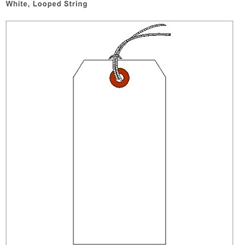 """Price comparison product image SHIPPING TAG,  HVY. WT.,  WHITE,  SZ 1 (1-3 / 8"""" X 2-3 / 4"""") BOX OF 1000,  LOOPED STRING"""