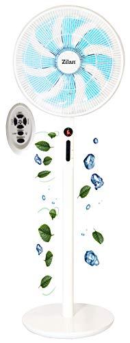 3in1 Standventilator Ø40 cm | 60 Watt | 10h Timer | Oszillierend | Fernbedienung | 3 Höhen | Leiser Betrieb | Ventilator | Windmaschine | Turmventilator | Luftkühler | Bodenventilator | Stand Fan