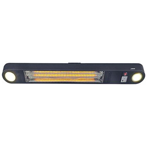 Heizstrahler Wand- und Deckenaufhängung mit LED Beleuchtung und Fernbedienung - 4