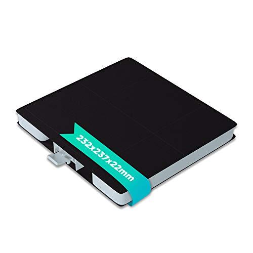 Aktivkohlefilter Kohlefilter Ersatz für Bosch 00705431 LZ53251 DHZ5326 LZ53251 Filter Geruchsfilter 232x237 mm für Dunstabzugshaube von Siemens Constructa Neff