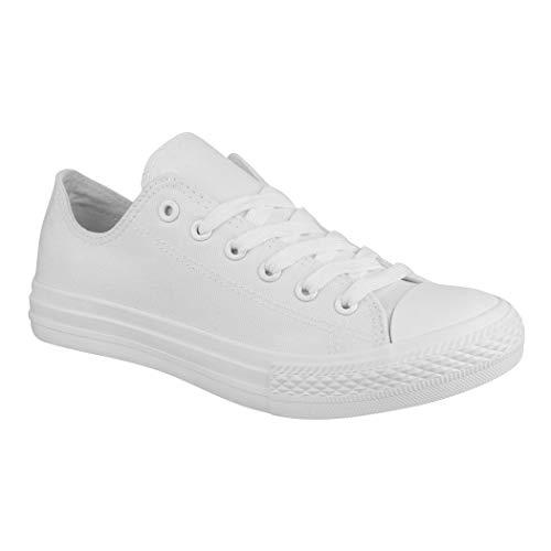 Elara Unisex Sneaker Textil Turnschuh Low top Chunkyrayan P 36-46 B-YD3230-Allwhite-46