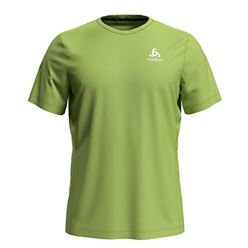 Odlo Herren s/s Crew Neck Element T-Shirt, Green Glow, XL
