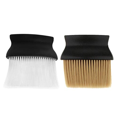SDENSHI 2pcs Nylon Hairdressing Neck Facial Duster Removal Brush W/Plastic Handle