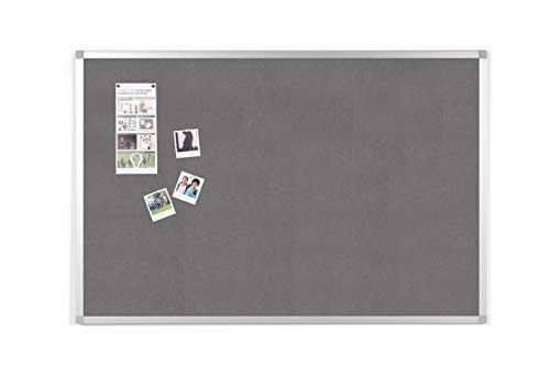 BoardsPlus - Pinnwand - 90 x 60 cm - Grauem Filztafel mit Aluminiumrahmen