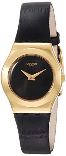 Swatch Reloj Analógico para Mujer de Cuarzo con Correa en Cuero YSG156