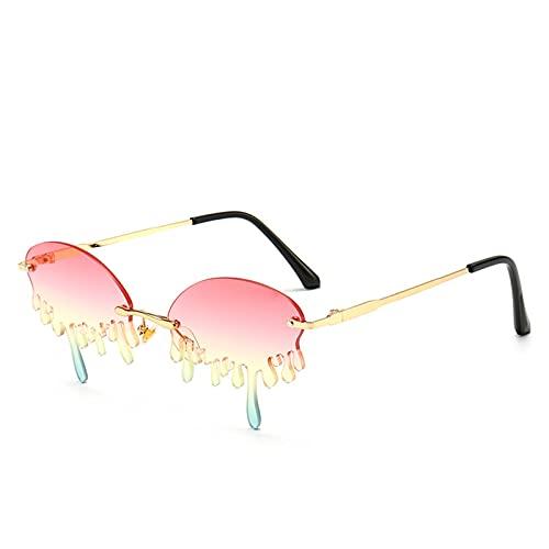 Nuevas lágrimas gafas de sol de moda, pasarelas de celebridades de Internet de moda, cien constelaciones, estilos divertidos de personalidad diaria