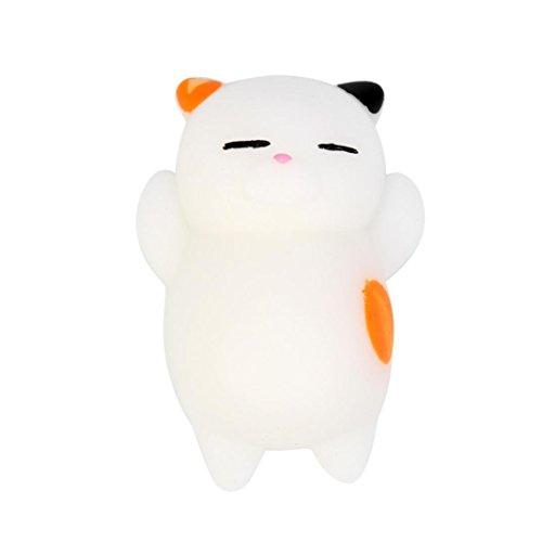 LianMengMVP Juguetes para Ninos Adultos 3pcs 4cm Cute Mochi Gato Squeeze Healing Fun Kids Kawaii Toy Stress Reliever