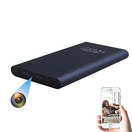 KAMREA Cámara espía WiFi Power Bank, grabadora de Video portátil HD 1080P con detección de Movimiento, visión Nocturna, transmisión en Vivo, Mini cámara niñera para el hogar, la Oficina, la Tienda