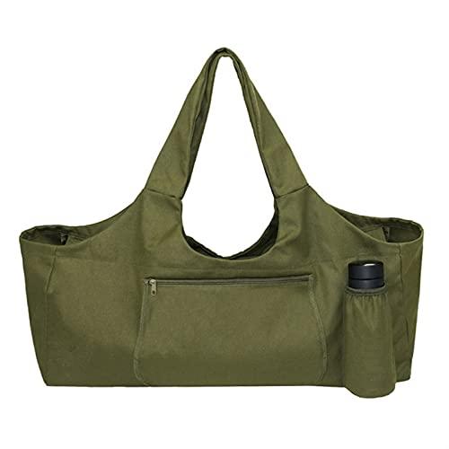 DHDHWL Bolsa Colchoneta Yoga Lona Yoga Mat Bag GIM Gym Bolsa de Asas con Bolsillo Deportivo Bolsa Grande Capacidad Yoga Mat Bag Strap Portátil (Color : Green)