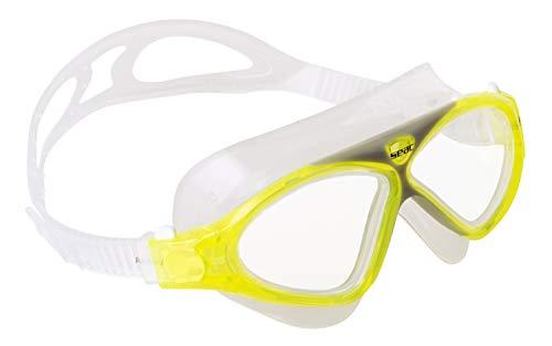 SEAC Vision JR Gafas de natación en la Piscina y en el mar, Unisex niños, Amarillo, Small