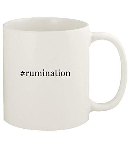 #rumination - 11oz Hashtag Ceramic White Coffee Mug Cup, White