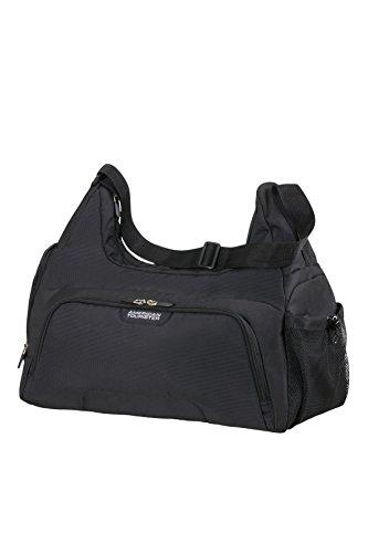 American Tourister - Road quest bolso de gimnasio, negro sólido (black), 48 cm, 32 L