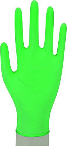 WORK-INN Einweghandschuh in Größe M | 100 Stück | Nitril Einzelhandschuhe Grün in praktischer Spenderbox | Ideal für Hygienebereiche - wie Lebensmittelbranche, Kosmetik UVM. | latexfrei