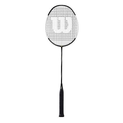 Wilson Badminton-Schläger, Blaze SX8000 J CV Spider, Unisex, Griffstärke: 5, schwarz/weiß, Neutral, WRT8827084