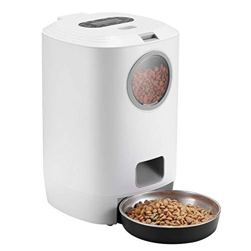Gazaar Alimentadores automáticos para mascotas inteligentes de 4,5 l para dispensador de alimentos para perros y gatos con temporizador y grabadora de voz, programables hasta 4 comidas al día