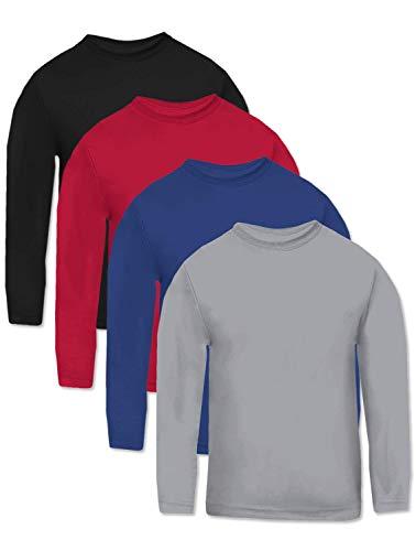 Multi Pack Hanes Men?s Cool Dri Long Sleeve Performance T-Shirt