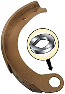 MACs Auto Parts 32-10196 Brake Shoe Set, Molded/Bonded, New, For Shoes With Round Anchor Hole To Backing Plate - 4 Pieces, Passenger Car, 19