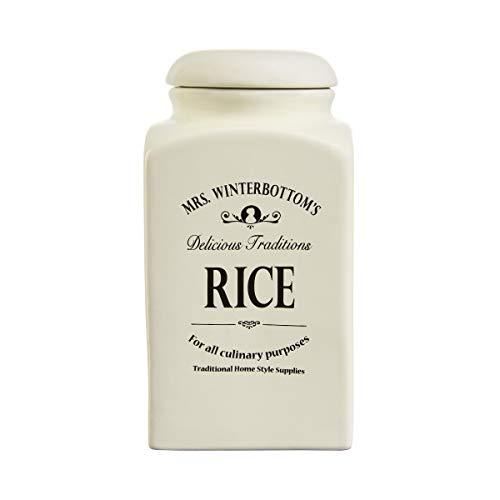 BUTLERS MRS. WINTERBOTTOM'S Reisdose 1,3 l in Creme - Vintage Vorratsdose aus Steingut im englischen Design - stilvolle, klassische Aufbewahrung