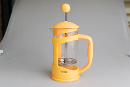 NANXCYR koffiekan verfpot glas theepot roestvrij staal koffiezetapparaat European Classic met permanent filter en hittebestendige greep 350ml