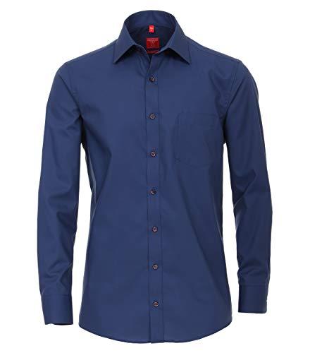Redmond Camisa de popelina para hombre, corte regular, 100% algodón marine XL