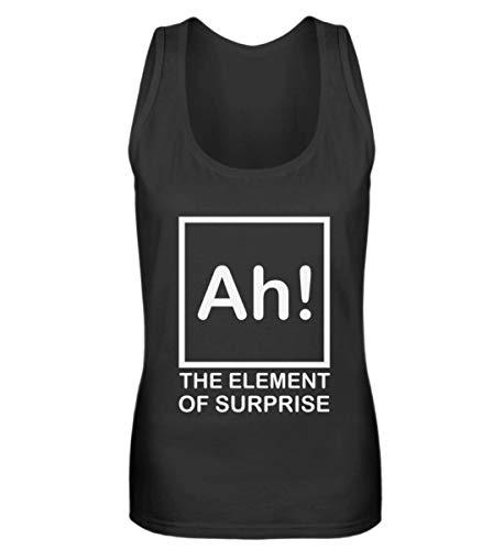 Fórmula química Ah – Profesor químico, escuela, ciencia, regalo, divertidos frases Cool – Camiseta de tirantes para mujer Negro  S