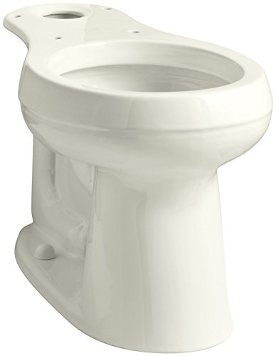"""KOHLER 4829-96 Cimarron Comfort Height Round-Front Toilet Bowl with 10"""" Rough-In, Biscuit"""