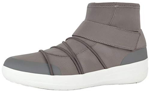 FITFLOP Women's Neoflex High-Top Sneakers, Charcoal, Size 8.5
