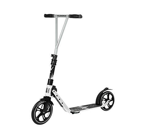 HUDORA Jugendliche & Erwachsene BigWheel Generation V 230 Scooter Roller Big Wheel, weiß